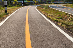 Bicycle lane. For exercise in contry Stock Photography