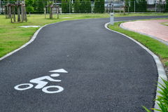 Bicycle Lane Stock Photo
