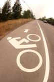 Bicycle lane . Royalty Free Stock Photography
