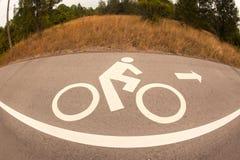 Bicycle lane . Stock Image