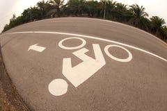 Bicycle lane . Stock Photo