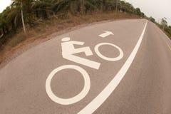 Bicycle lane . Stock Photos
