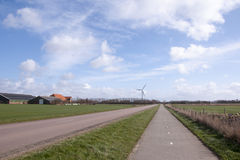 Bicycle lane on the island of Texel Royalty Free Stock Images