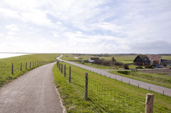 Bicycle lane on the island of Texel Stock Images