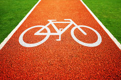 Bicycle lane Royalty Free Stock Images