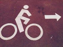 Bicycle lane move on Stock Photography