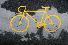 Bicycle lane. In the park Royalty Free Stock Photo