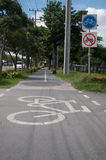 Bicycle lane. In the park Stock Photo