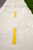 Bicycle lane. In the park Royalty Free Stock Image
