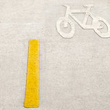Bicycle lane. In the park Stock Images