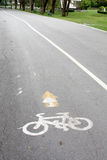 Bicycle lane. In the park Royalty Free Stock Photography