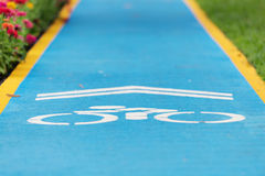 Bicycle lane. Bicycle lane in the park Stock Images