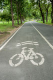 Bicycle lane  in park. Royalty Free Stock Image