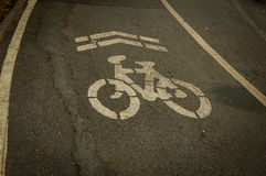 Bicycle Lane. In The park Thailand Royalty Free Stock Photo
