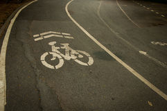 Bicycle Lane. In The park Thailand Royalty Free Stock Photos