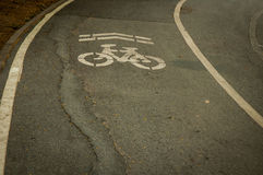 Bicycle Lane. In The park Thailand Royalty Free Stock Images