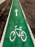 Bicycle lane. Bicycle lane,the patch way for bicycles only Stock Photos