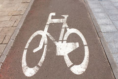 Bicycle lane (path) Royalty Free Stock Photo