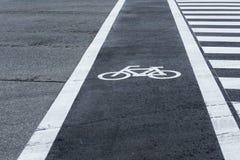 Bicycle lane path Royalty Free Stock Photo