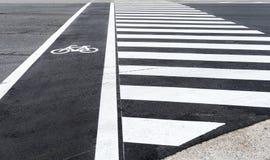 Bicycle lane path Stock Images