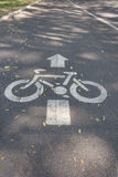 Bicycle lane road sign Stock Photography