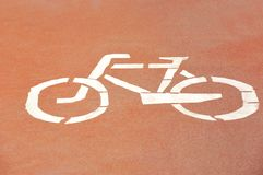 Bicycle lane road sign Stock Image