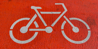 Bicycle lane Royalty Free Stock Photos