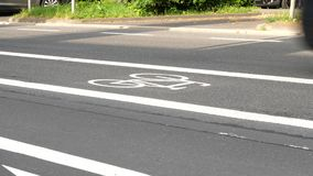Bicycle lane and road users