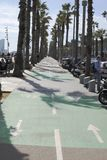 Bicycle lane in Barcelona. Spain Stock Image