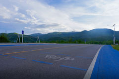 Bicycle lane, share the road Royalty Free Stock Images