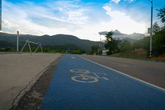 Bicycle lane, share the road Royalty Free Stock Photo