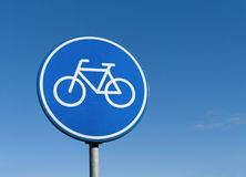 Bicycle lane sign Stock Images