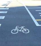 Bicycle lane Royalty Free Stock Photo
