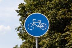 Bicycle lane sign Stock Photos