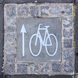 Bicycle Lane Sign Royalty Free Stock Photos