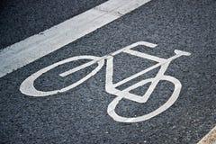 Bicycle lane sign Royalty Free Stock Image