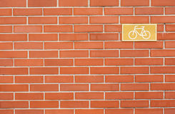 Bicycle lane sign Stock Image