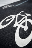 Bicycle Lane Sign Royalty Free Stock Photography