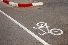 Bicycle lane sign Royalty Free Stock Images