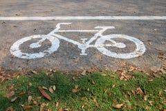 Bicycle lane sign Stock Photo