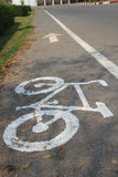 Bicycle lane sign Stock Photography