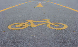 Bicycle lane sign Royalty Free Stock Image