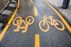 Bicycle Lane Royalty Free Stock Photos