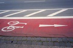 Bicycle lane. Royalty Free Stock Image