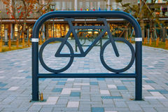 Bicycle lane in a small garden at Odaiba Area in Tokyo Stock Photo
