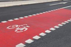 Bicycle lane, Stockholm Royalty Free Stock Images