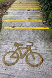 Bicycle lane on the street Royalty Free Stock Image