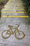 Bicycle lane on the street Royalty Free Stock Image