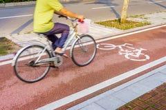 On bicycle lane Stock Photography
