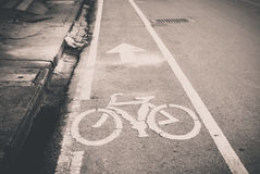 Bicycle lane symbol Stock Images